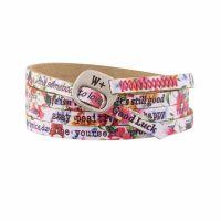 We Positive Bracelet Print Ibiscus