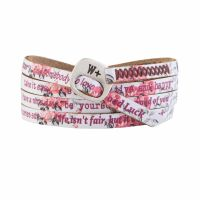 We Positive Bracelet Print Rose
