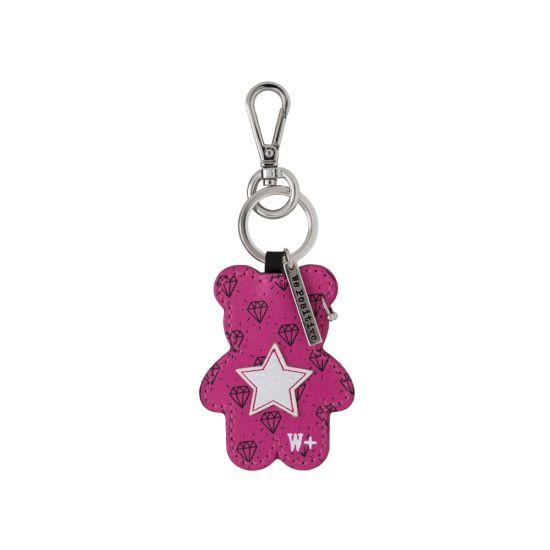 Porte clés We Positive Teddy Rock Pink