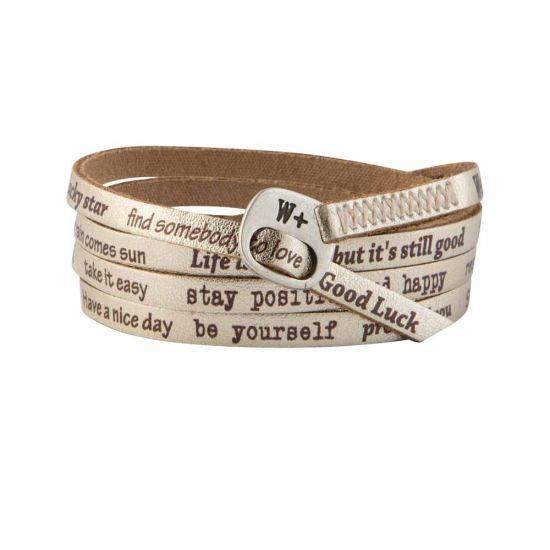 We Positive Bracelet Vintage Gold