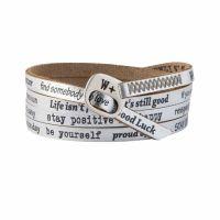 We Positive Bracelet Vintage Silver