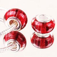 Perle à Paillettes Rouge rayé