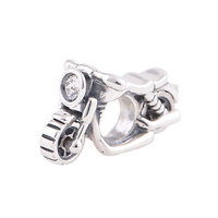 925 Sterling silver Motorbike Charm