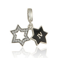 925 Sterling silver Star Dangle charm
