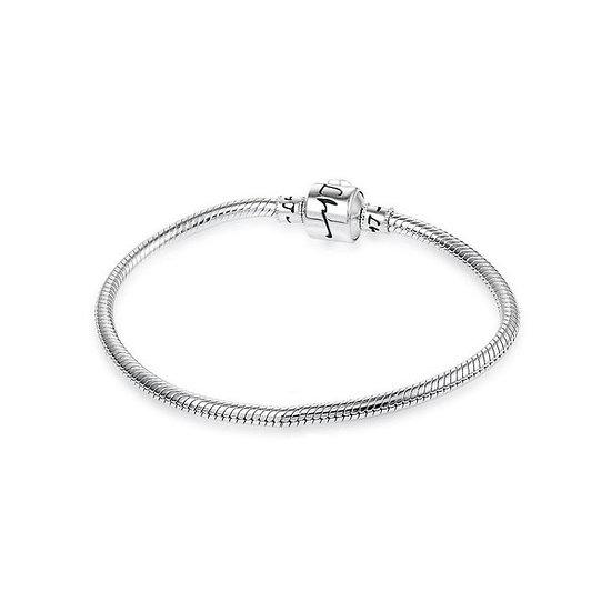 Bracelet charm en argent 17 cm