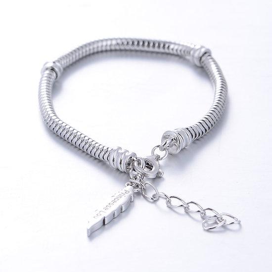 Bracelet charm en argent 15 à 18 cm