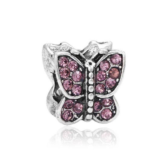 Charm Papillon rose