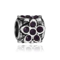 Black flower charm bead