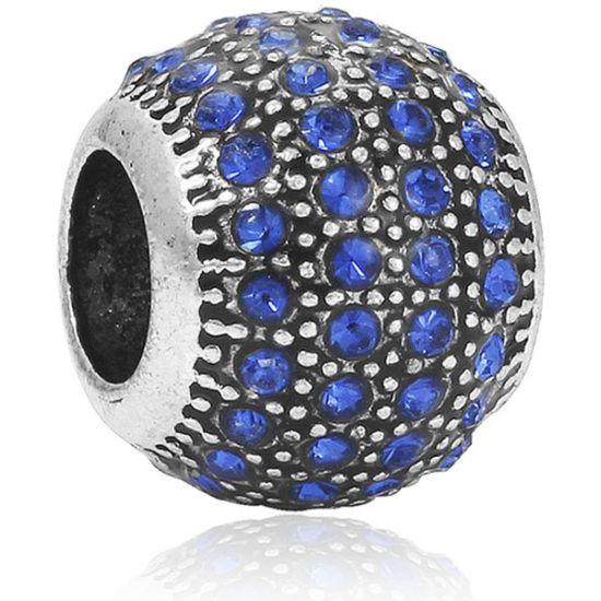 Charm Boule pavé bleu