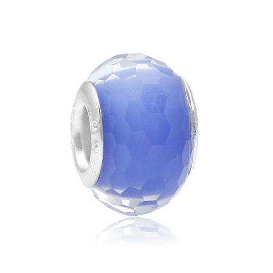 Perle Bleue à facettes