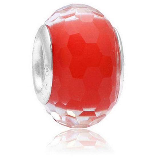 Perle Rouge à facettes