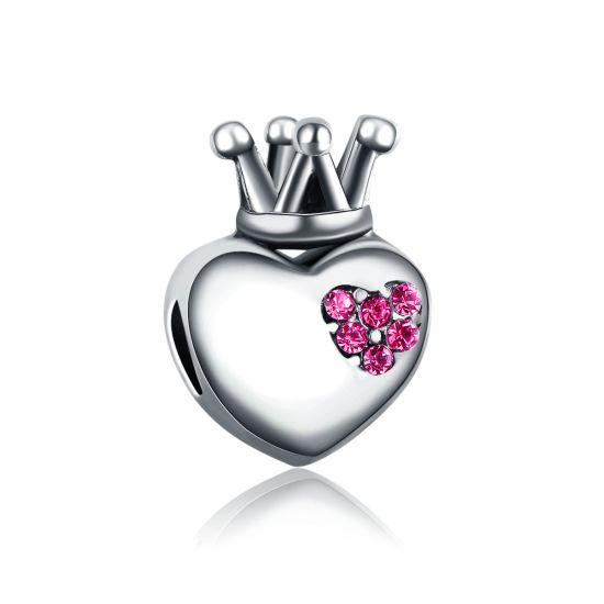 Charm Coeur Royal Rose
