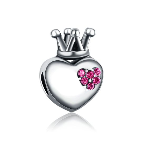 Charm Coeur Royal Rose
