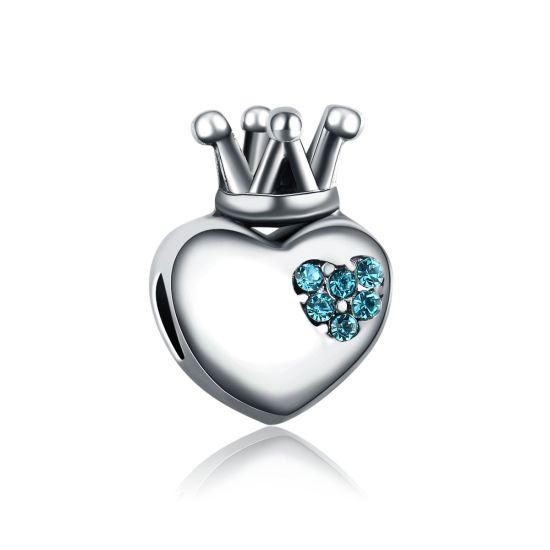 Charm Coeur Royal Bleu