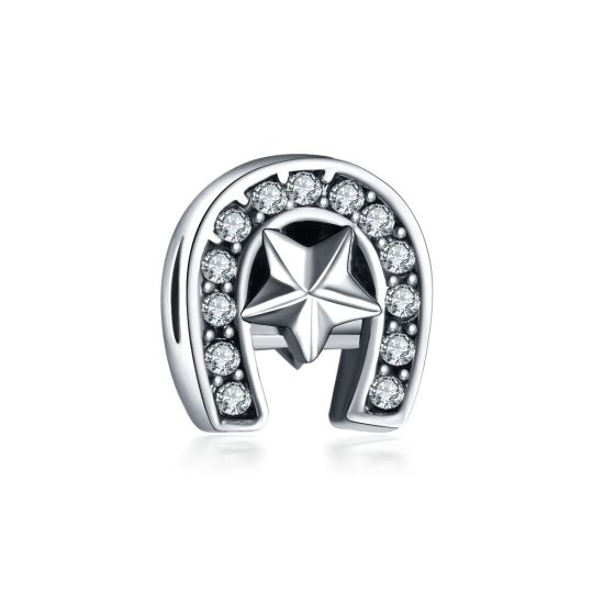 06b3c758c White Horseshoe Charm Bead   Cheap Charms for Pandora