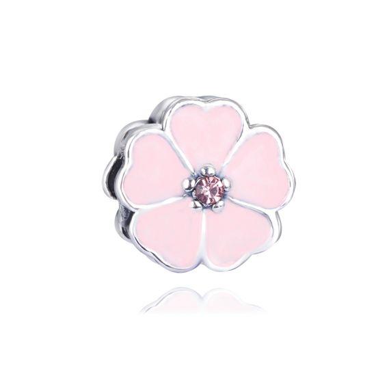charm marguerite rose bracelet charms pas cher. Black Bedroom Furniture Sets. Home Design Ideas