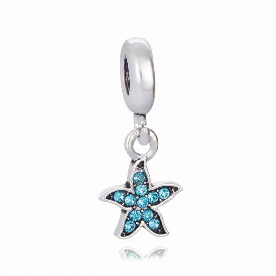 Pendentif Étoile de Mer Bleue