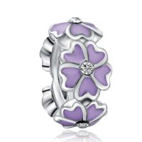 Purple Magnolia Spacer Charm