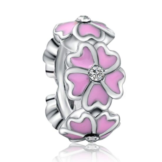 Pink Magnolia Spacer Charm