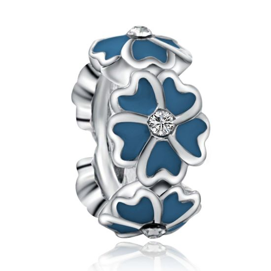 Blue Magnolia Spacer Charm
