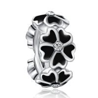 Black Magnolia Spacer Charm