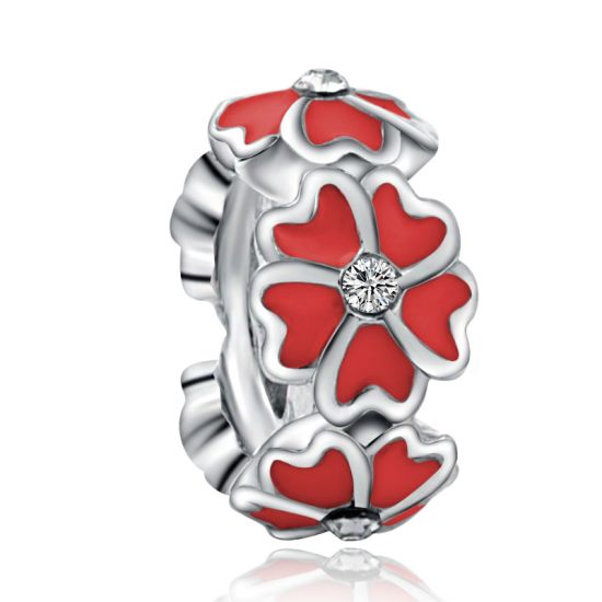 Red Magnolia Spacer Charm