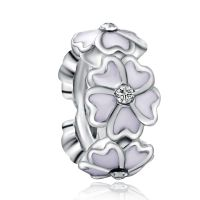 White Magnolia Spacer Charm