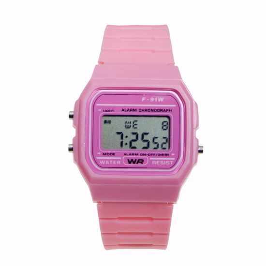 Montre Digital Silicone vintage Rose style Casio