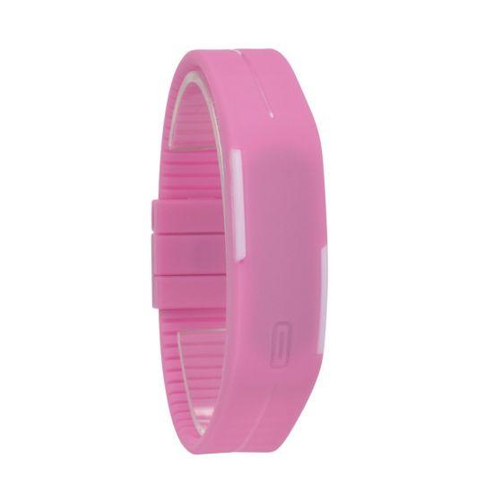 Montre Bracelet Digital Ultra Slim Silicone Rose