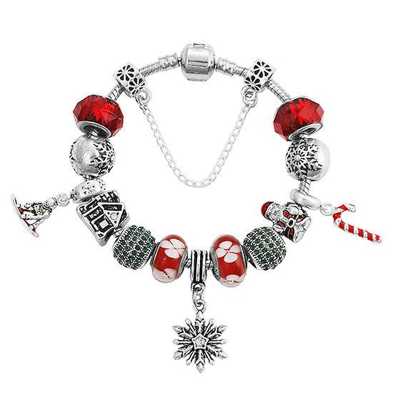 Bracelet charm Magie de Noël 19 cm
