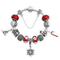 Bracelet charm Magie de Noël 21 cm