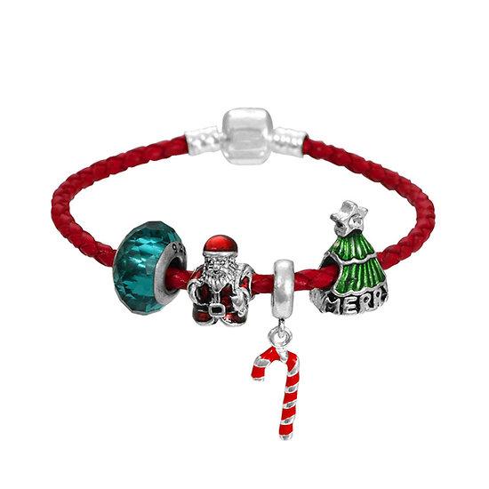 Bracelet charm Joyeux Noël 18 cm