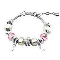 Bracelet Charm Diamant blanc (19 à 23 cm)