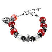 Bracelet Charm Chic rouge (19 à 23 cm)