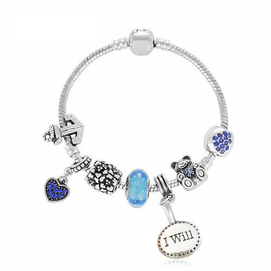 Bracelet charm Thaïs I will 18 cm