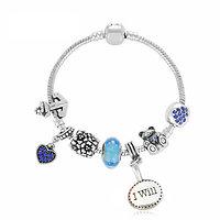 Bracelet charm Thaïs I will 21 cm