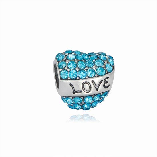 Charm Coeur Love bleu