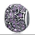 Charm Etoile brillante violet