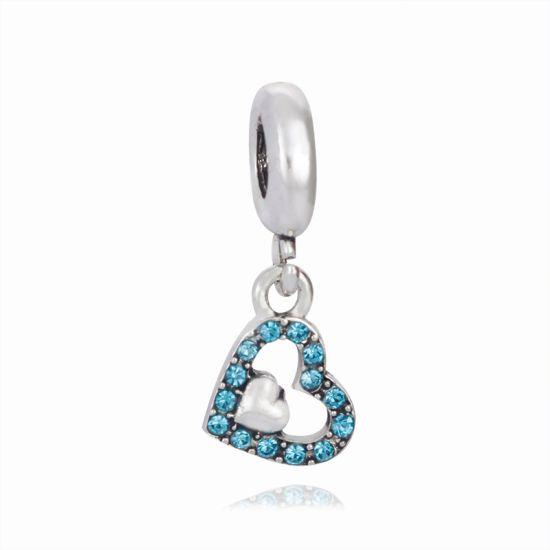Charm Pendentif Coeur bleu