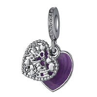 Charm Pendentif Love Family Pastel violet