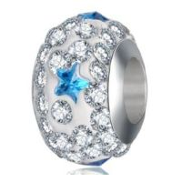 Perle Cristal Etoile turquoise