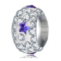 Perle Cristal Etoile bleue