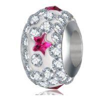 Perle Cristal Etoile fuchsia
