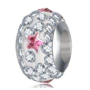 Perle Cristal Etoile rose