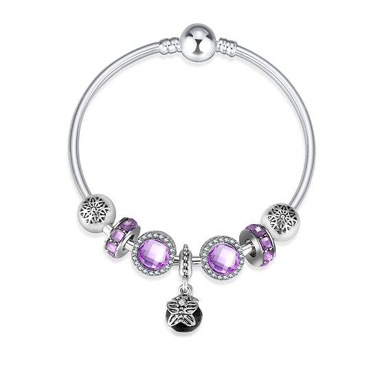 clip pandora pour bracelet rigide