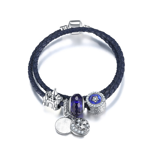 Bracelet Charm Double Féérique 19 cm