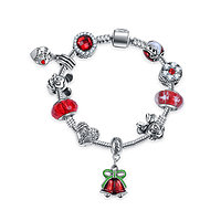 Bracelet charm Noël de Mickey 16 cm