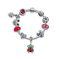Bracelet charm Noël de Mickey 15 cm