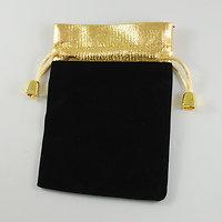 Pochette Cadeau en velours noir et or