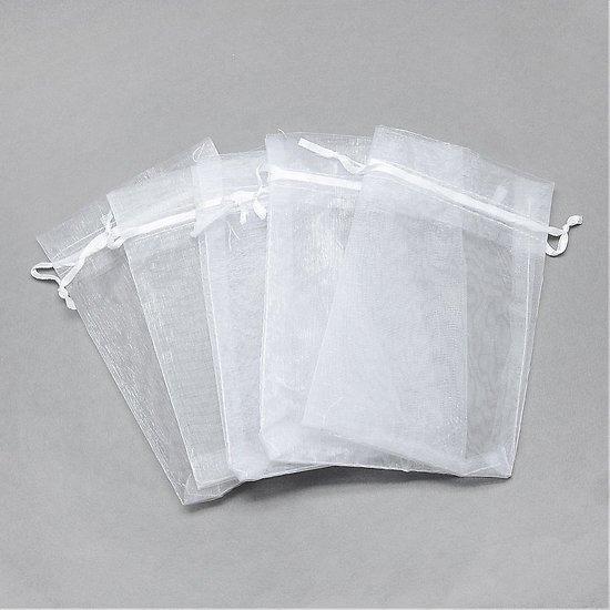 Pochette Cadeau en organza blanc L